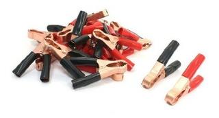20pcs Negro Rojo 50 Un Resorte Cargado Bateria Pinza Cocodri