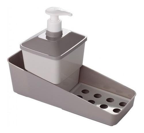 Imagen 1 de 6 de Conjunto Porta Detergente, Esponja  Y Jabon Plasutil Silmar