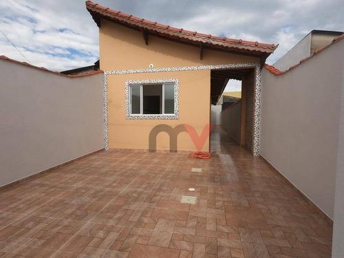 Casa Em Obra  Com 2 Dormitórios À Venda, 69 M² Por R$ 225.000 - Samambaia - Praia Grande/sp - Ca0785