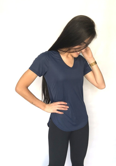 Blusinha Baby Look Comprida Dry-fit Fitiness