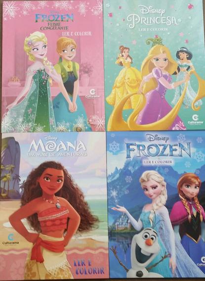 Kit Revenda 100 Livros Ler E Colorir Disney, Marvel, Mônica