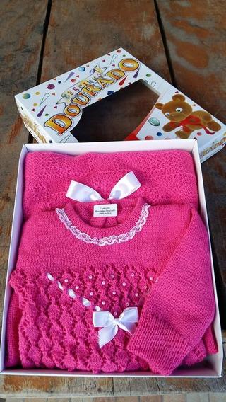 Saída De Maternidade + Kit Touca Luvas E Sapatinhos