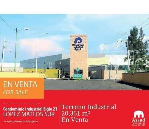 Terreno Industrial En Venta - López Mateos Sur - Parque Industrial Siglo 21 - 20,351 M2