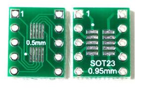 Kit 10 Placas Adaptadoras Sot23 Ssop10 Msop10 Umax