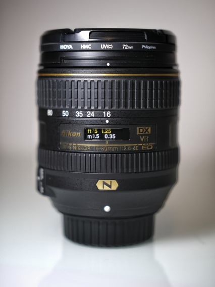 Lente Nikkor 16-80mm 2.8-4e Ed Vr Dx + Filtro Hoya