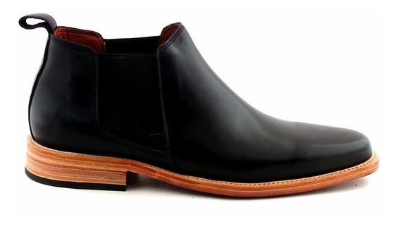 Zapato Bota Cuero Hombre Briganti Suela Vestir - Hcbo00900