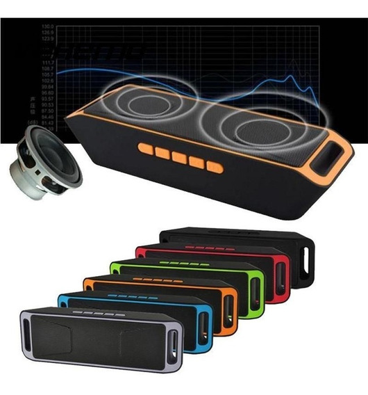 Caixa De Som Portátil Wireless Music Megabass