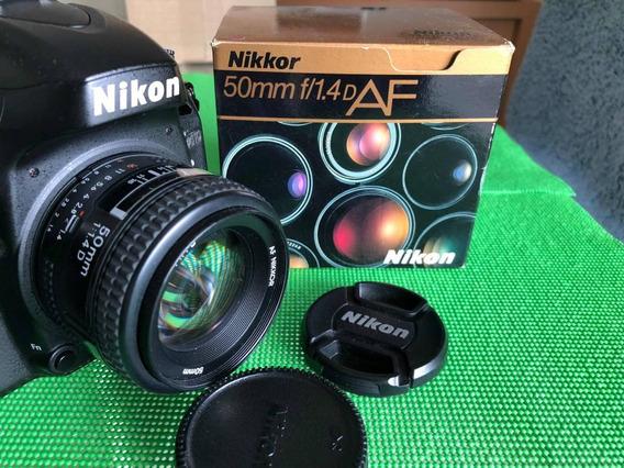 Lente Nikon 50mm 1.4 D Perfeito Estado, Completa Na Caixa