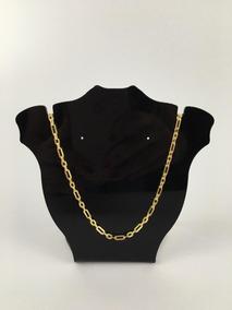 Corrente Colar Cartier Masculino 60cm Banhado A Ouro 18k