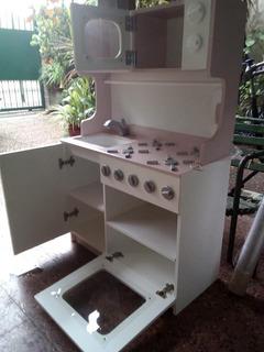 Cocina De Madera Pintada Para Niños Nene Nena Infantil