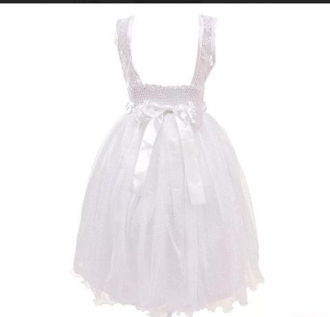Vestido Daminha Menina Veste De 6 À 8 Anos
