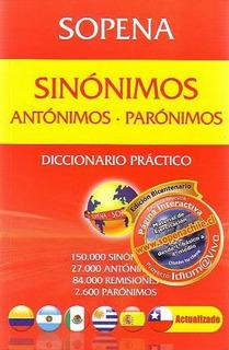 Sopena Diccionario De Sinónimos, Antónimos Y Parónimos
