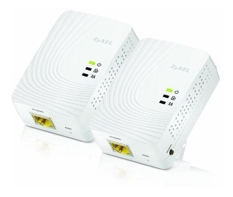 Zyxel 600 Mbps Mini Powerline Av2 Gigabit Adapter, Kit Básic