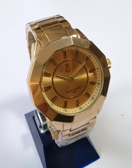 Relógio Masculino Dourado Atlantis G-3111 Original.