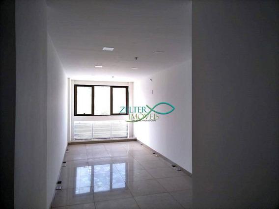 R$ 500 - Sala Comercial Totalmente Reformada No Punto Offices - 27m² - Vaga De Garagem - Porcelanato - Sa0101