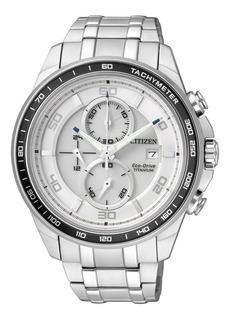 Reloj Citizen Ca0340-55a Super Titanium Crono Ecodrive Promo