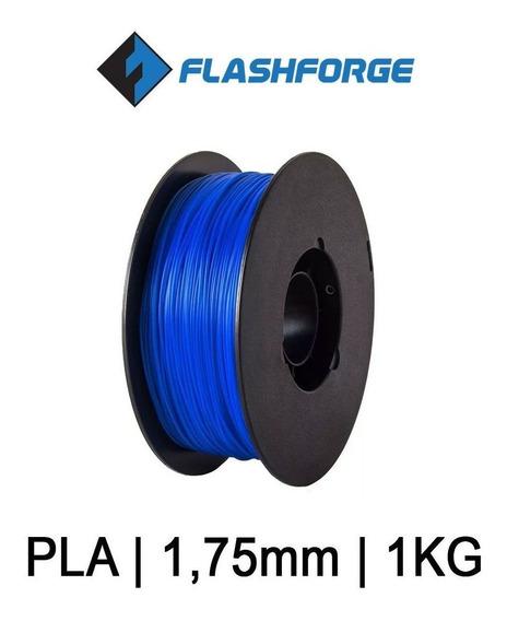 Filamento Pla Flashforge Impressão 3d 1,75 1kg Azul Pérola