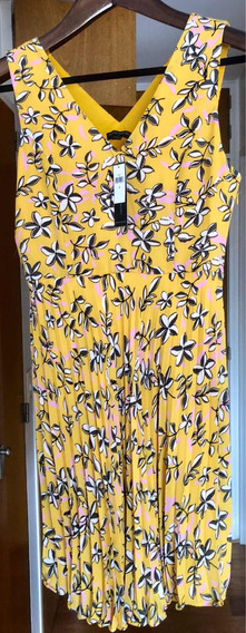 Vestido Amarillo Floreado Banana Repúblic Talle 8us