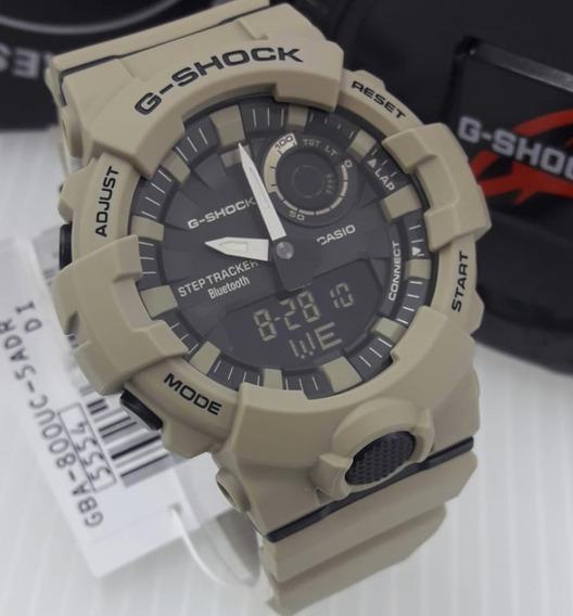 Relogio G-shock Gba-800uc-5 Bege G-squad Bluetooth® Pequeno