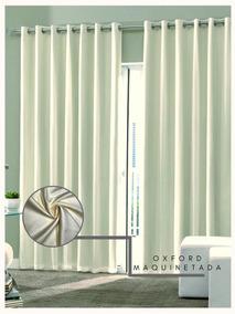Cortina Oxford Maquinetada Marfim