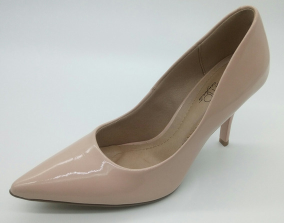 Sapato Scarpin Beira Rio Verniz Nude