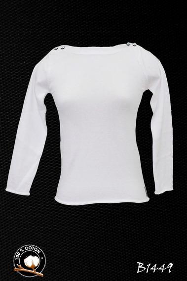 Suéter Dama Blanc Du Nil 100% Algodon Blanco
