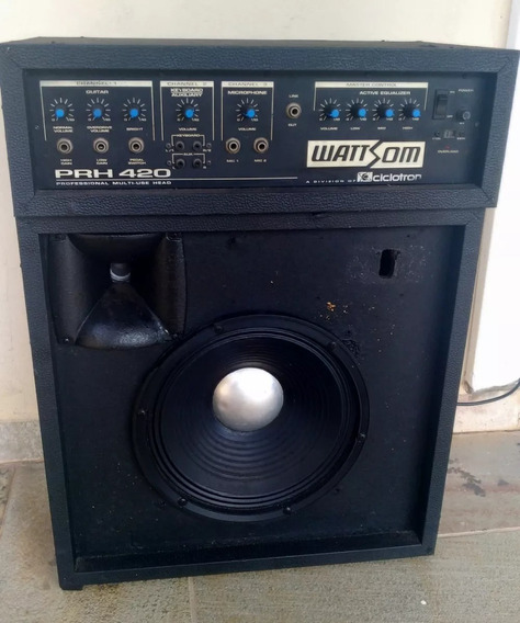 Cabeçote Amplificador Wattsom Prh 420 Com Caixa