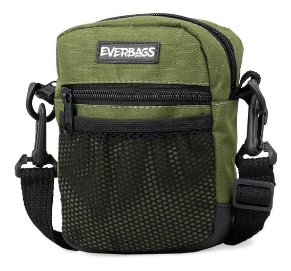 Shoulder Bag Verde Redinha Everbags Tira Colo Necessaire