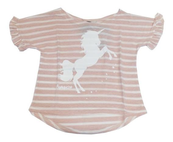 Remera Infantil Niñas Marca Pampero Modelo Unicornio