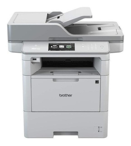 Impressora multifuncional Brother MFC-L6 Series MFC-L6902DW com wifi 110V - 120V branca e cinza