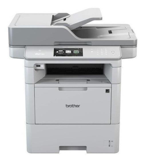 Impressora multifuncional Brother MFC-L6 Series MFC-L6902DW com Wi-Fi 110V - 120V branca e cinza