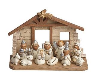 Escena Del Pesebre De Navidad En Miniatura Para Chicos Juego