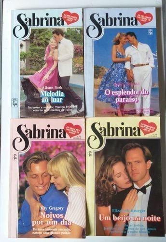 Livro Romances Lote 4 Livros - Sabrina Vários Autores