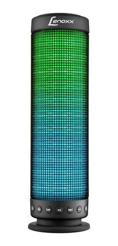 Caixa de som Lenoxx BT503 portátil com bluetooth  preta 110V/220V