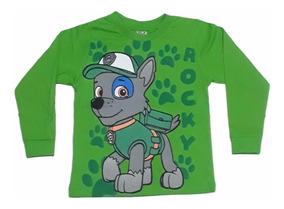 Camiseta Infantil De Frio Patrulha Canina Manga Longa