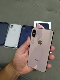 iPhone Xs 256gb Gold + Capinhas Nf E Garantia