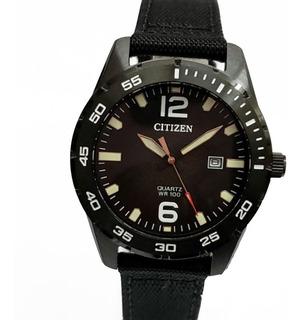 Reloj Citizen Bi1045-05e Acero 50m Wr Malla Nylon Watch Fan