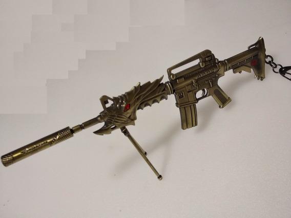 Miniatura Metal Rifle M4 21cm Crossfire Cs Free Fire Fuzil