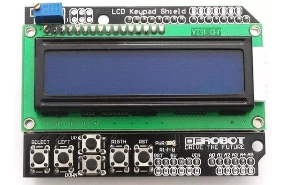 Display Lcd Keypad Shield 16x02 Com Teclado Botões Arduino
