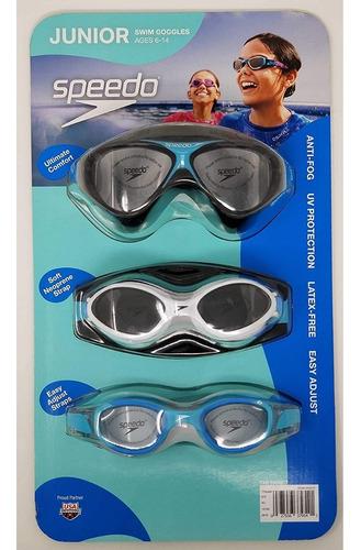 Gafas De Natacion Speedo Junior 6 - 14 Años, Set X 3