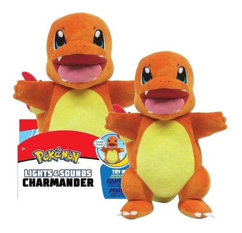 Imagem 1 de 5 de Pelúcia Pokémon 30 Cm - Charmander Com Luz E Som - Sunny