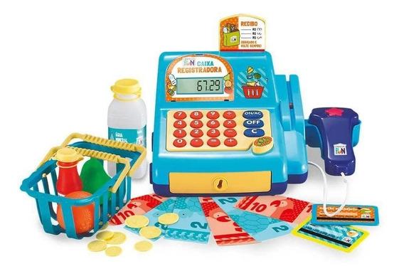 Caixa Registradora Infantil Calculadora Scanner Som Multkids