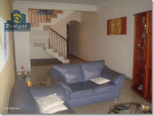 Sobrado Com 3 Dormitórios À Venda, 258 M² Por R$ 520.000,00 - Jardim Milena - Santo André/sp - So0974