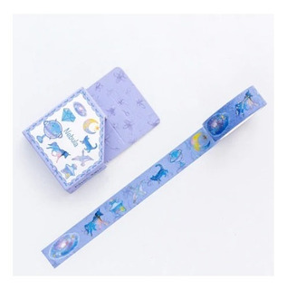 Cinta Washi Tape Decorativa Importada Kawaii Nebula Unicorni