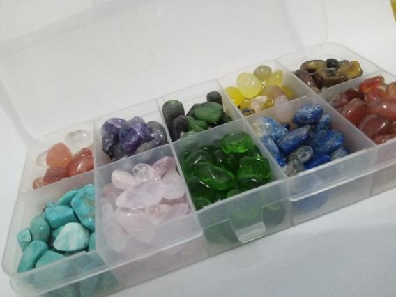 Mini Quartzos Cristais Naturais Estojo Com 10 Tipos D Pedras