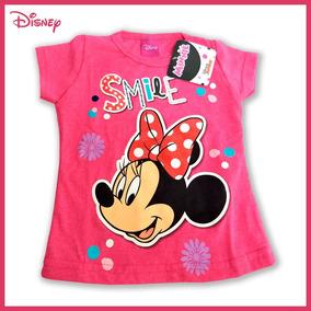 Playera Minnie Mouse Rosa Serigrafía Disney Talla 2