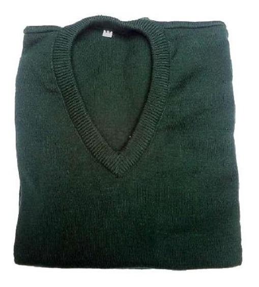 Sweater Pullover Colegial Color Verde - Talles Niños