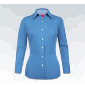 abff54cc043d Blusa Lunares Blancos Camisas en Mercado Libre México