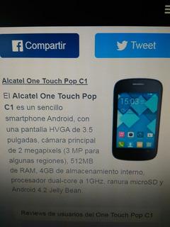 Celular Alcatel Onetouch Popc1