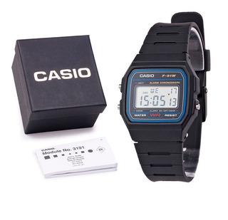 Relógio Casio F-91w Unissex Original C/ Caixa E Nf
